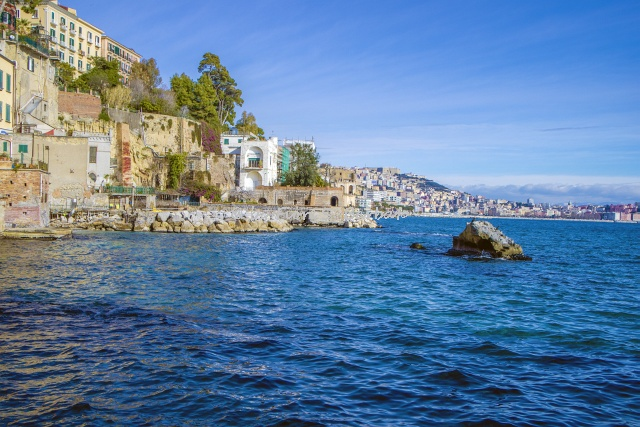 Bay of Posillipo, Naples, Italy.