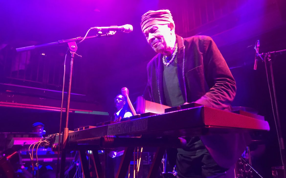 Roy Ayers playing the xylophone