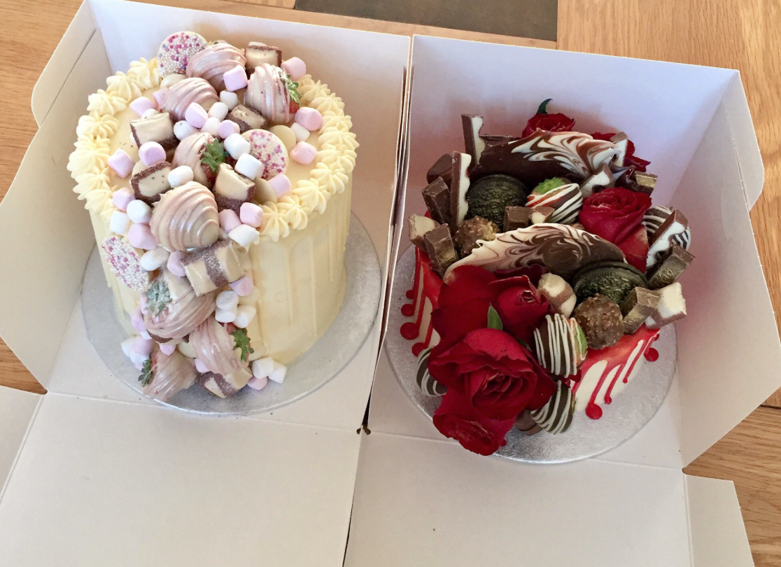 White Chocolate and Floral Overload cakes