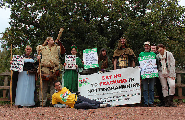 Sherwood forest fracking protest