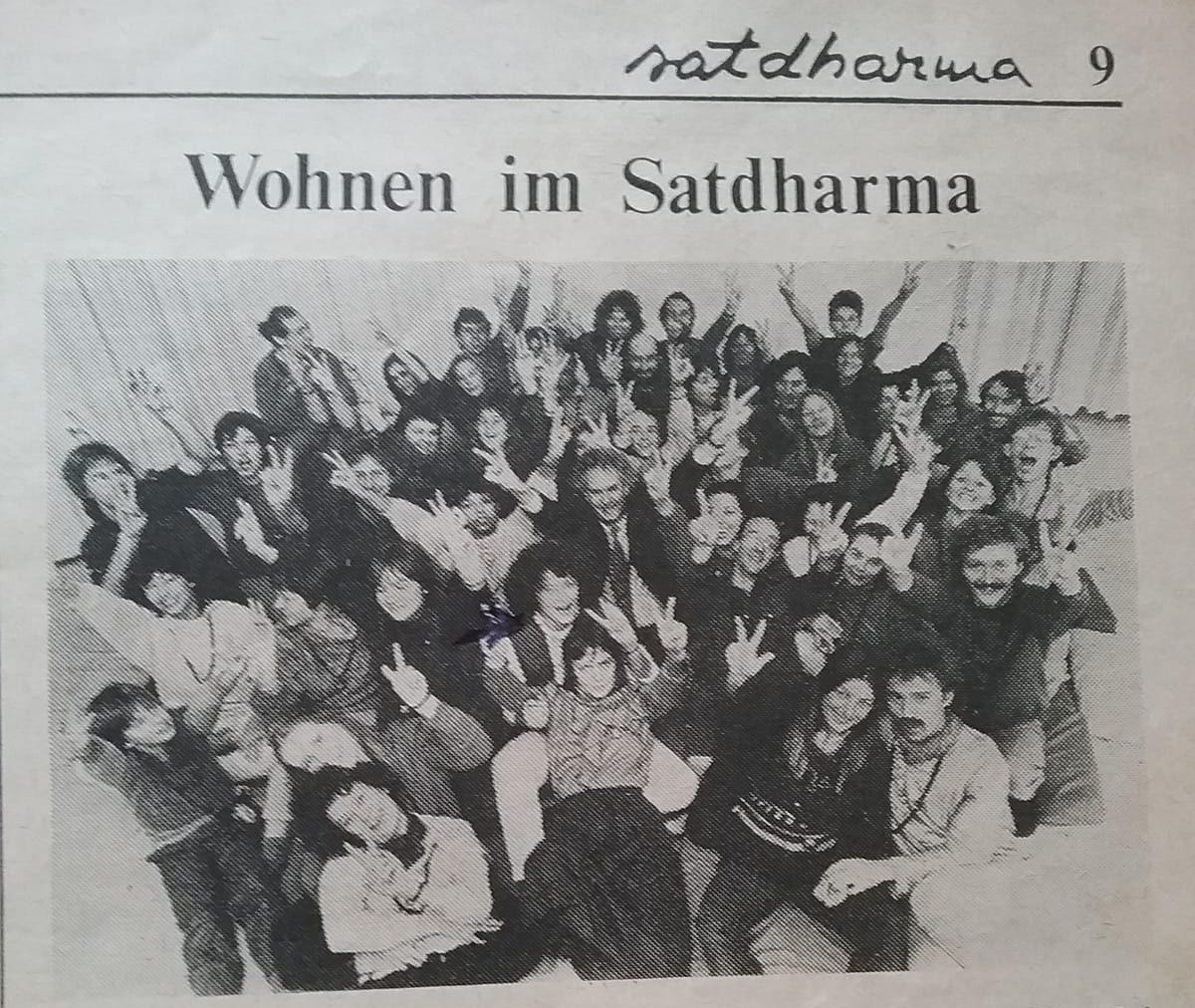 German Satdharma Newspaper 1983