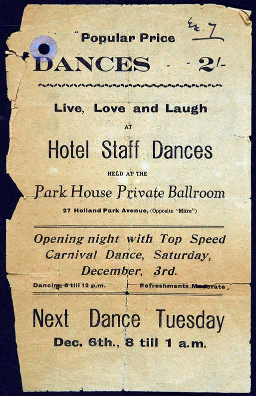 Private Ballroom dance flyer