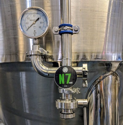 The NZ tap at Hammerton Brewery