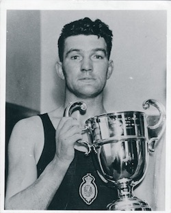 Jimmy with one of his many trophies. -Photograph provided by Paul Magill