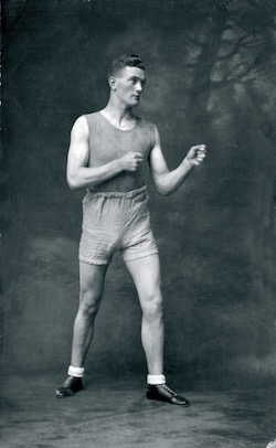 Jimmy Magill in the classic boxing stance circa 1930's. - Photograph provided by Paul Magill.