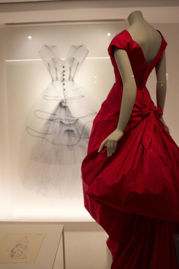 Balenciaga evening dress 1954