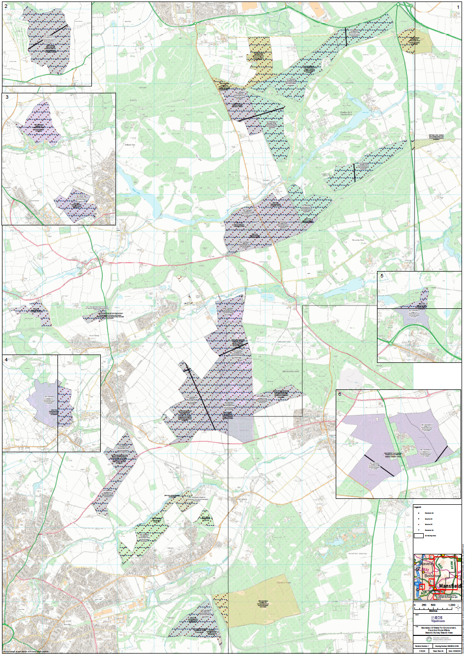 FOI request map of seismic tests sherwood forest