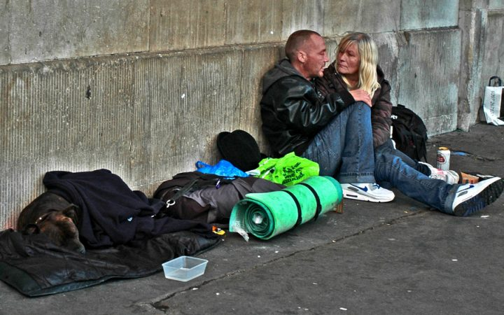 Rough sleepers and their little belongings