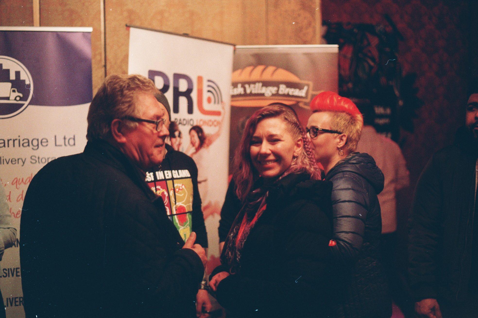 Anna Ciecierska, the lead organizer of the GOCC (WOŚP) final in London, 2018, welcoming guests. Fot. Bartosz Kielak