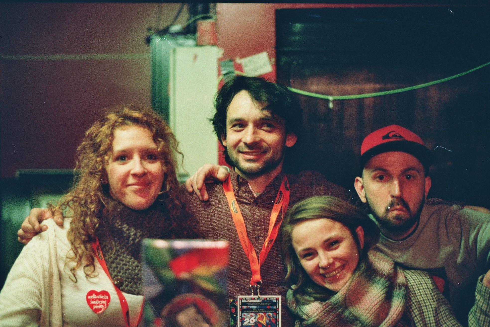 Volunteers at the GOCC final in London in 2018. Maude, from Spain, on the left. Fot. Bartosz Kielak