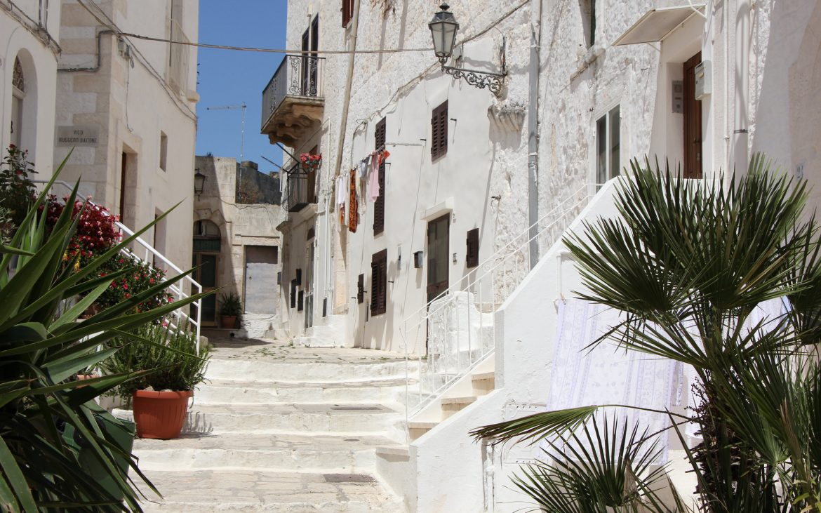 Ostuni view from a staircase