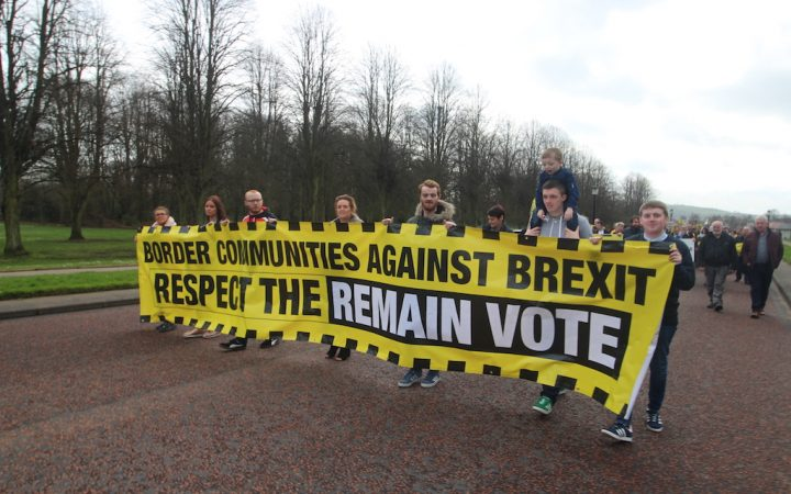 Brexit protest at Stormont