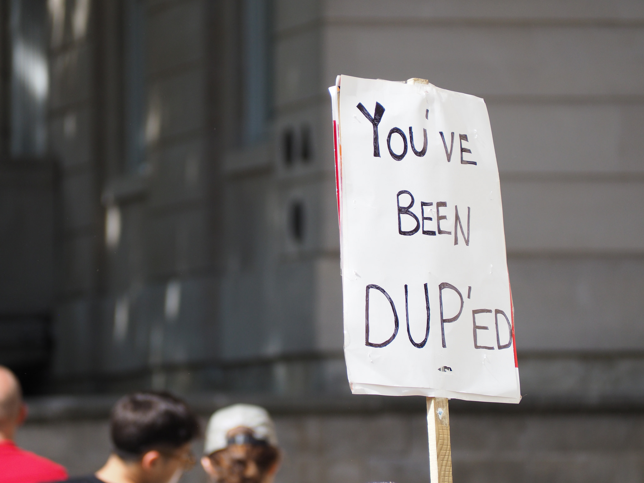 "Placed reading ""You've been DUP'ed"""