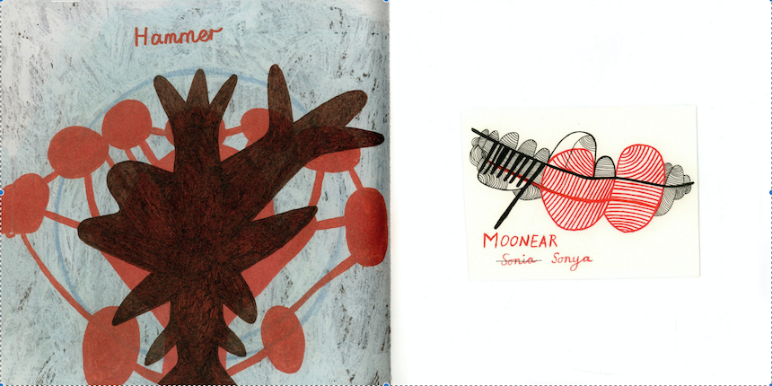Illustrations of Hammer and Sonya Moonear