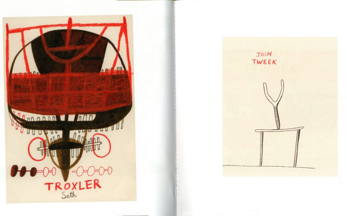 Illustrations of Seth Troxler and Josh Tweek