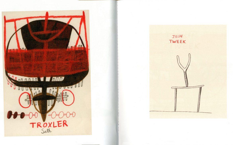 Illustrations of Seth Troxler and Josh Tweek
