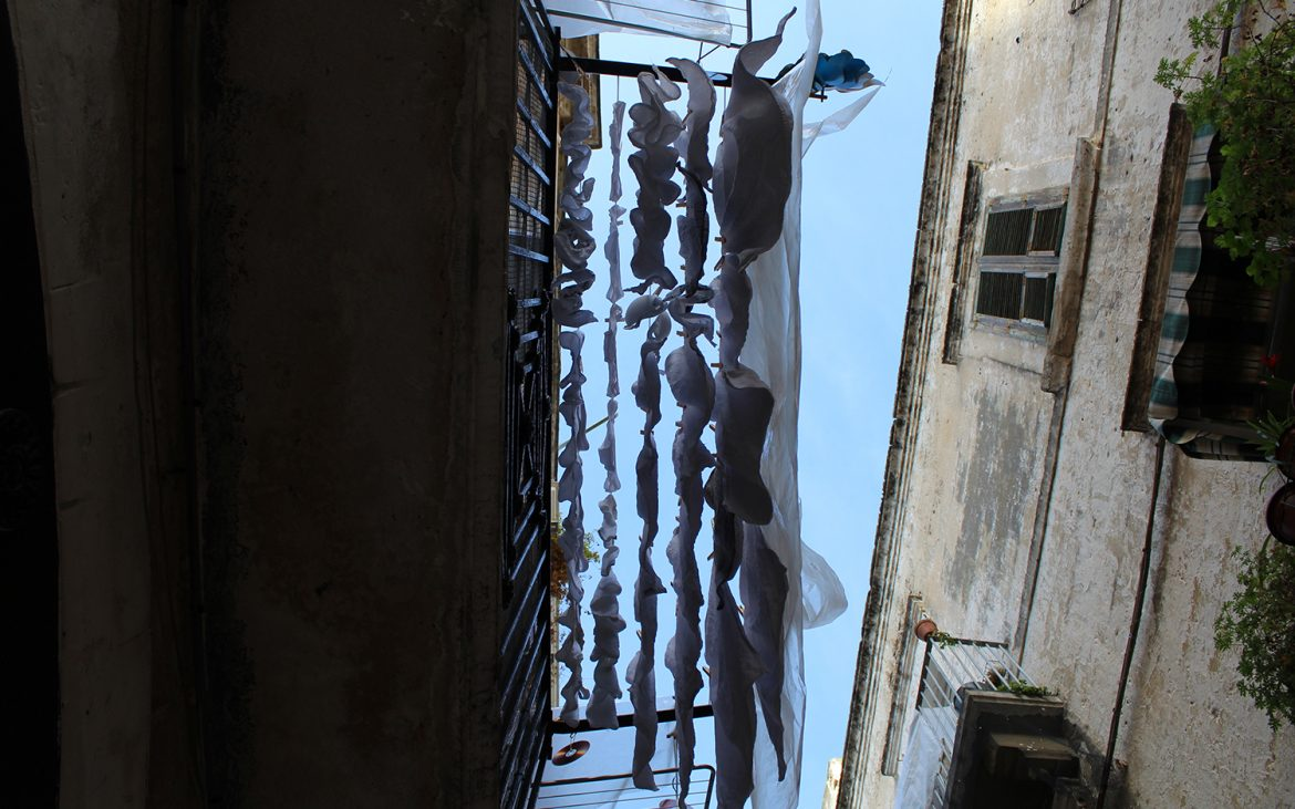Clothes drying in Bari, Puglia