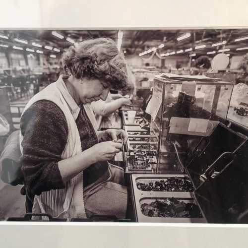 Woman working in Lesney factory