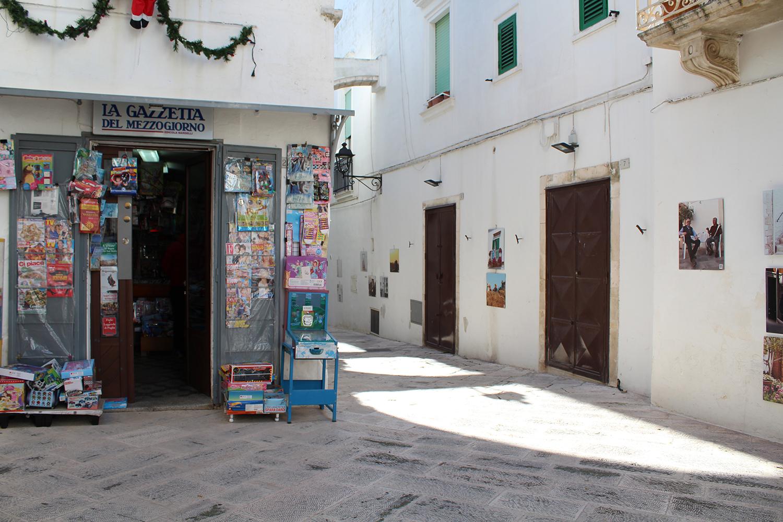 Newsagent in a Puglian Piazza
