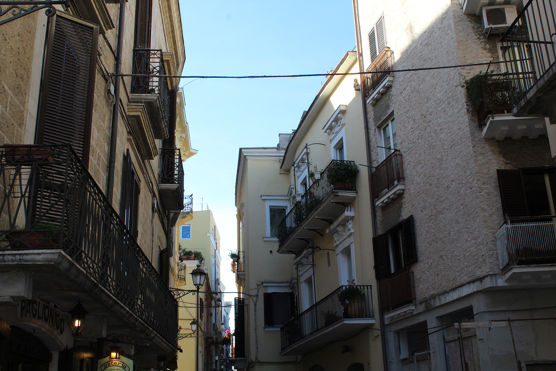 Streets in Old Bari town, Puglia