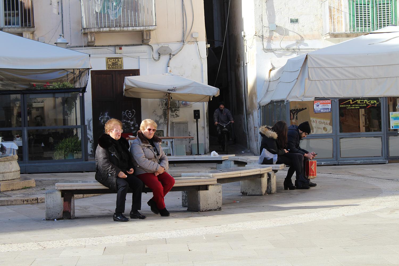 Ladies in a Piazza in Bari, Puglia
