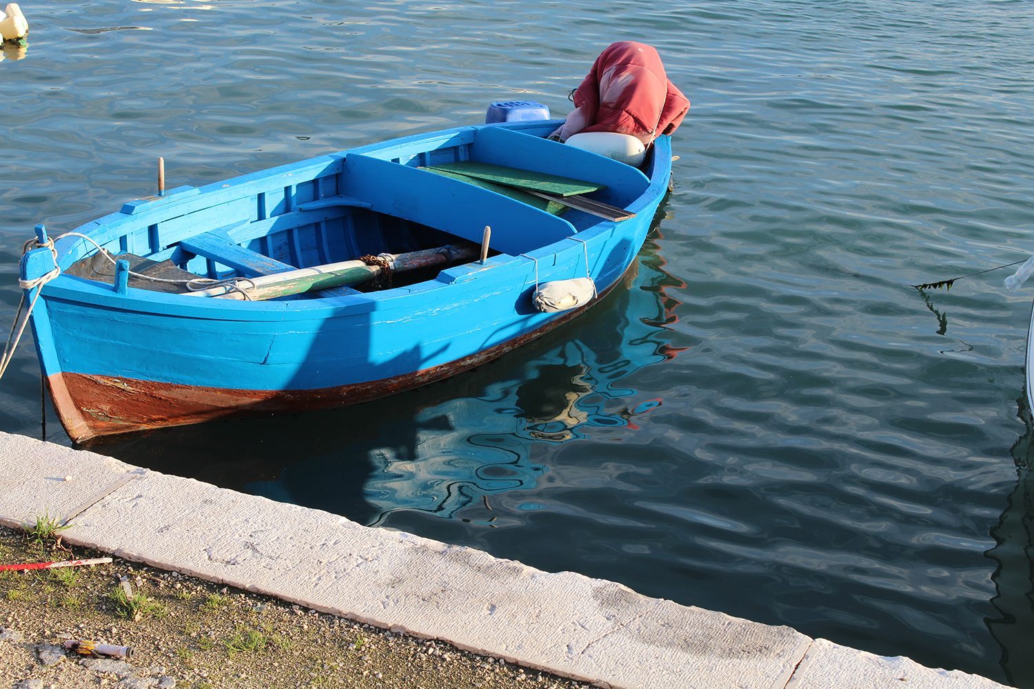 Typical fishermen boat in Bari