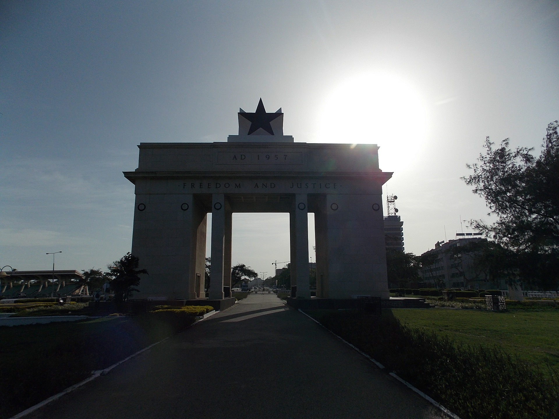 Ghana's Independence Arch in the capital Accra.