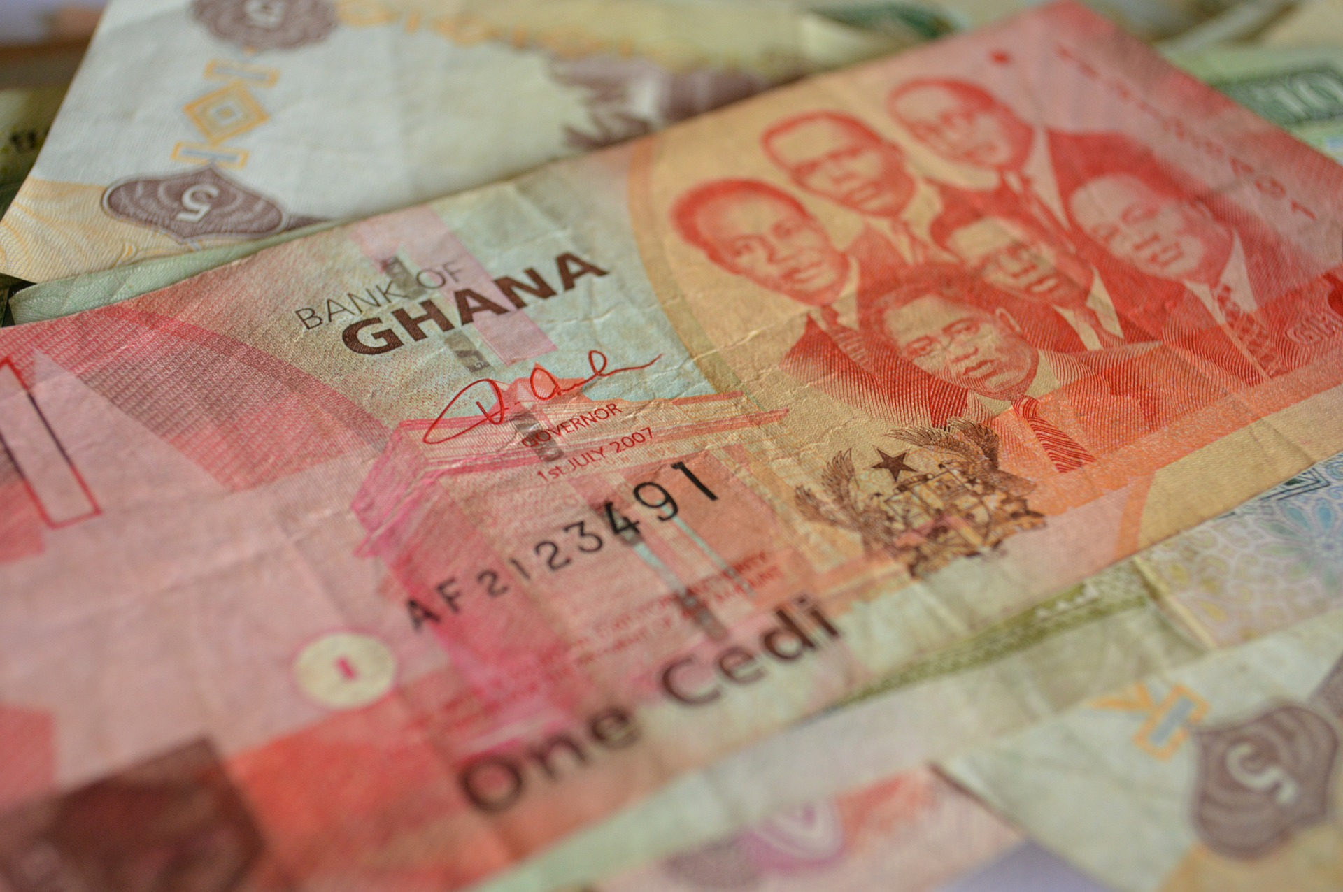 Ghanaian Cedis- the country's unit of currency