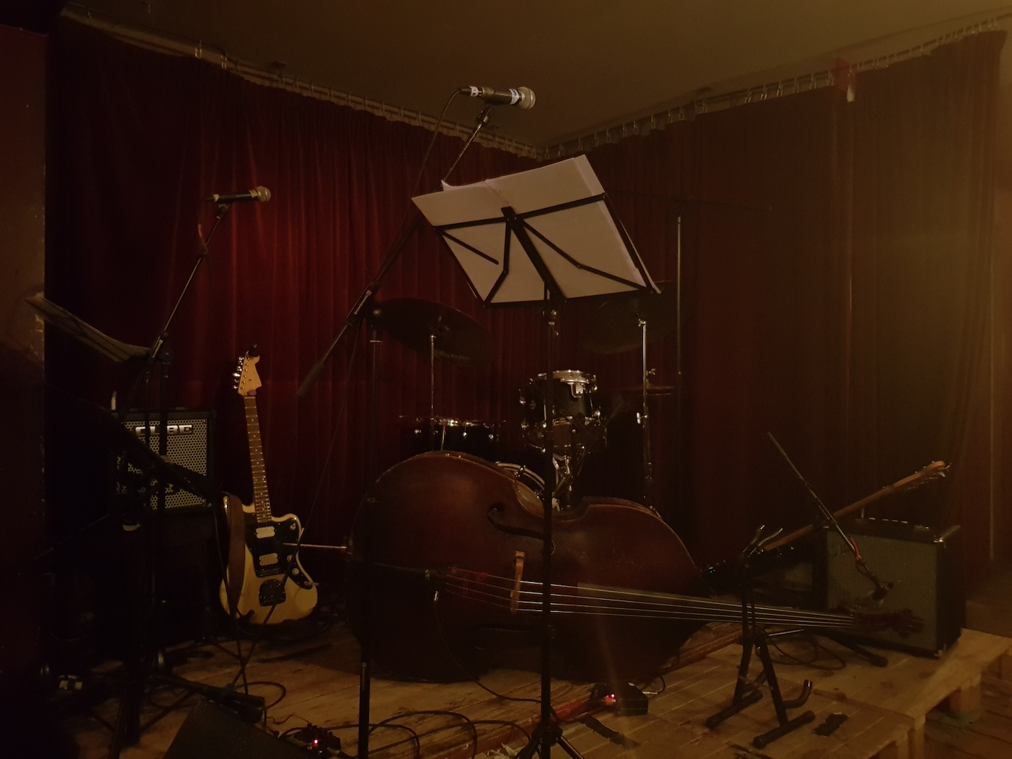 Instument set-up in the Green Note