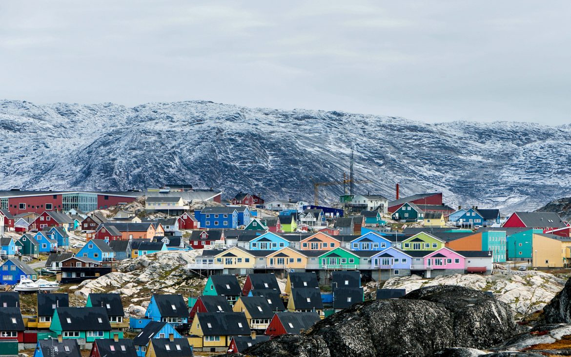 Typical colourful Greenlandic houses