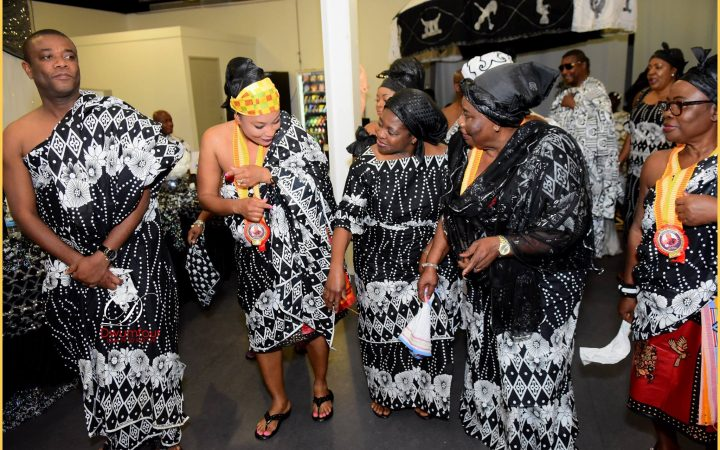 Dancing the Adowa Dance at Ghanaian Funeral