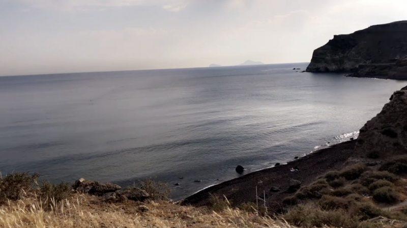 Isolated clear beach