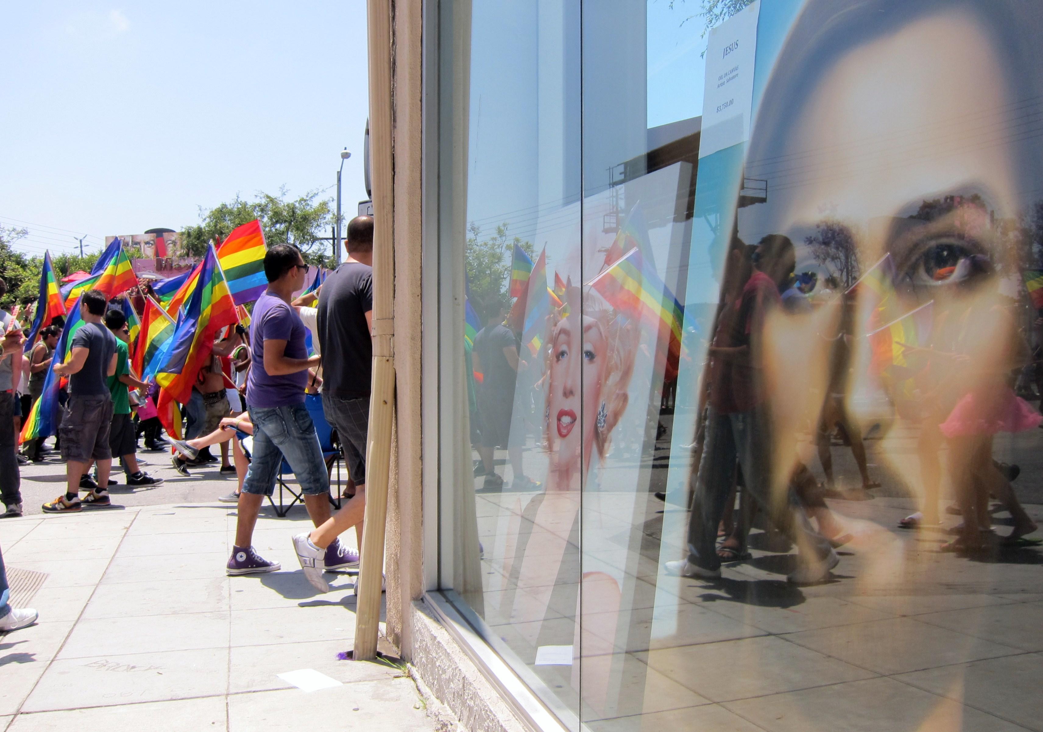 jesus image, pride parade