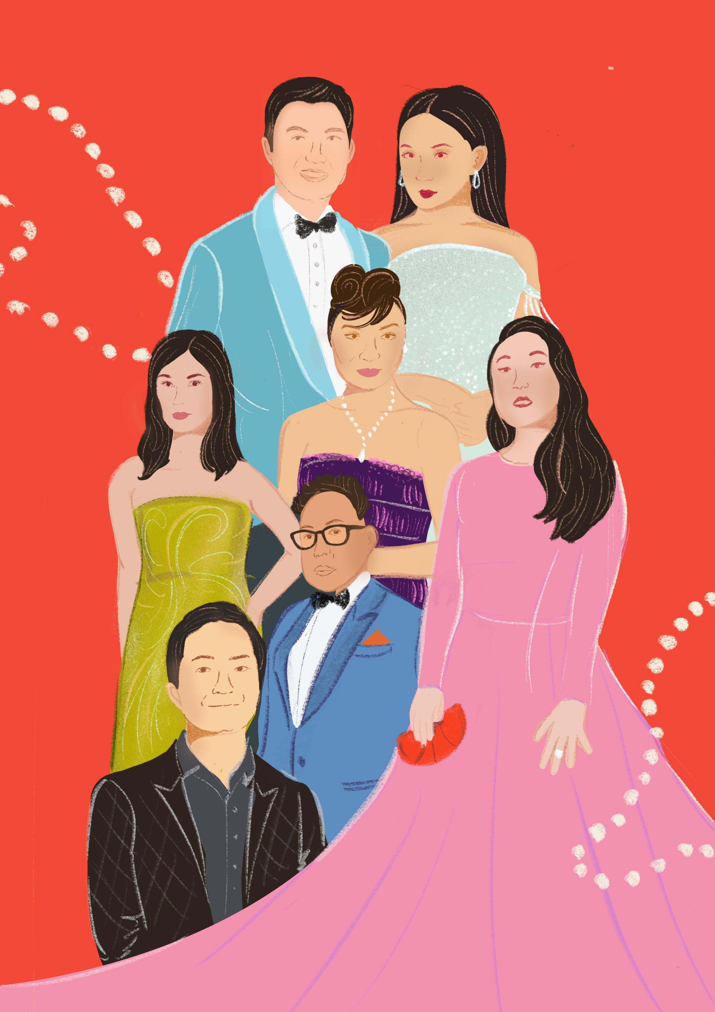 Crazy Rich Asians illustration