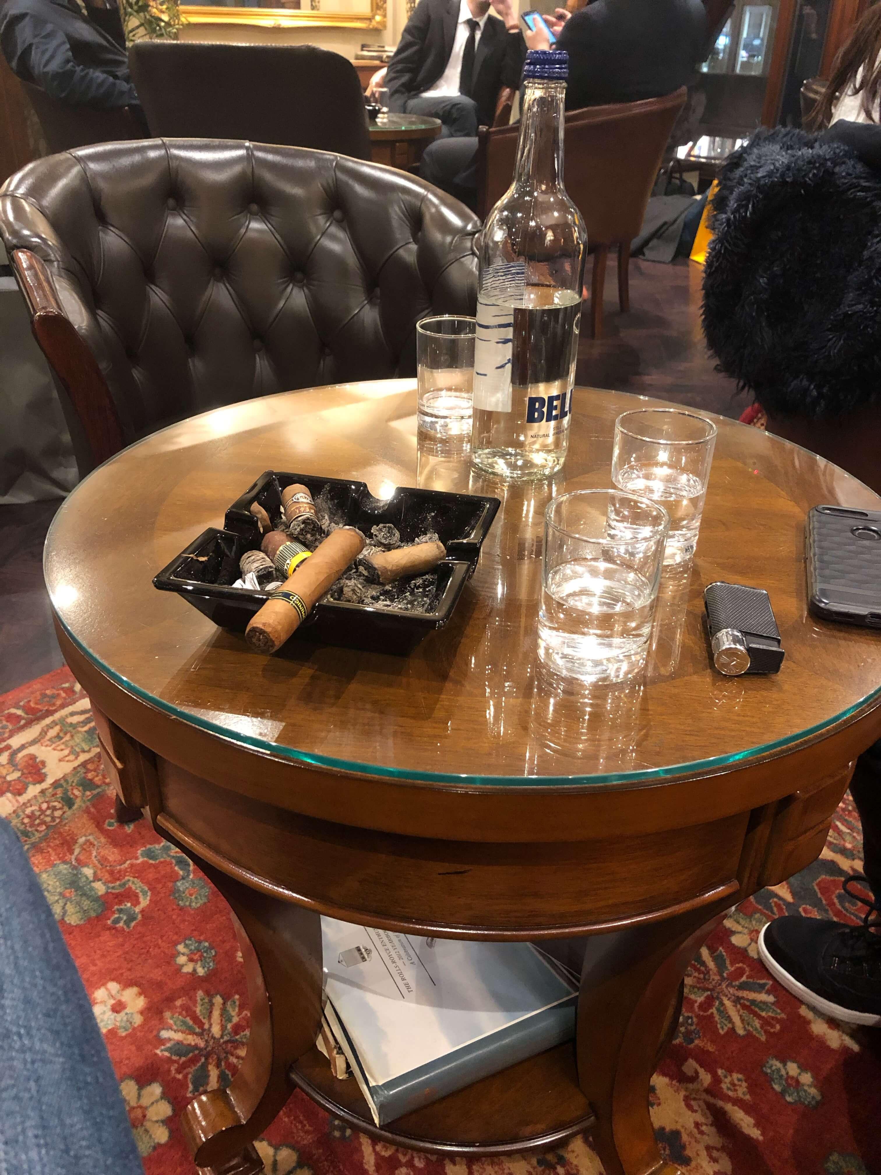 Cigar at table