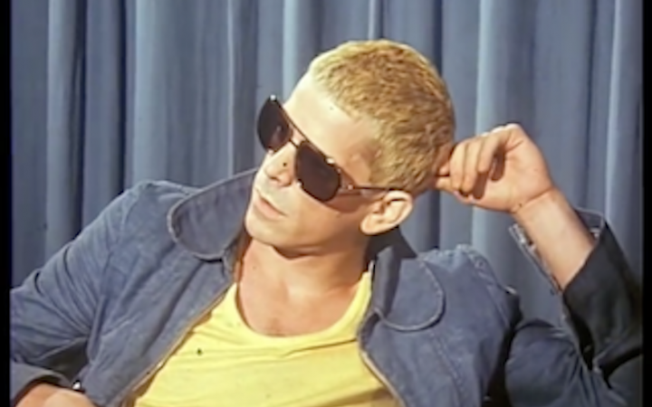 Image of Lou Reed during an interview in 1974