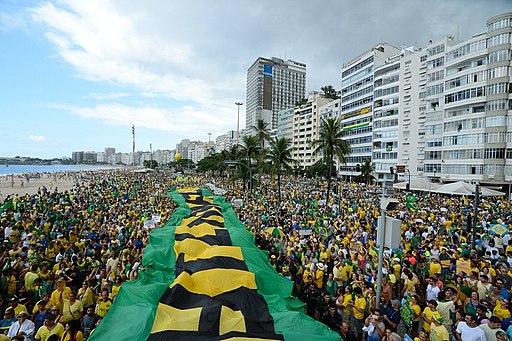 Protest in Rio de Janeiro against corruption