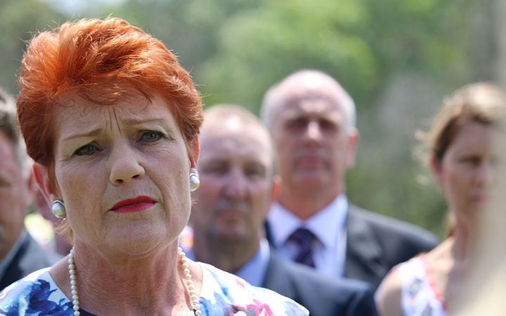 Pauline Hanson talking