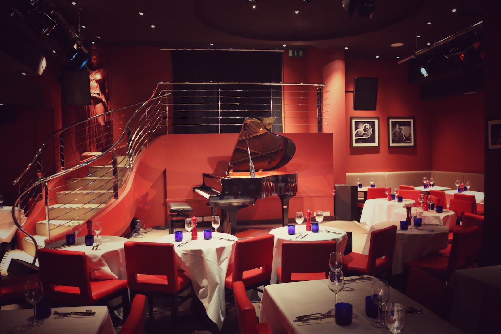 Interior shots of The Pheasantry Pizza Express, in Chelsea.