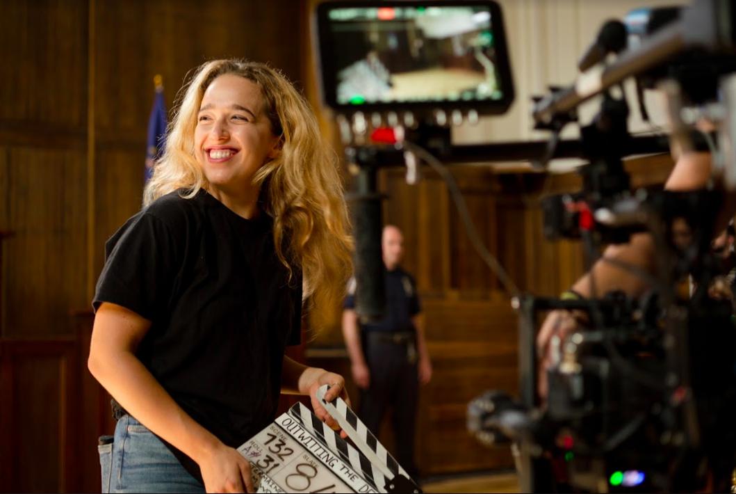Caroline Hajny filming