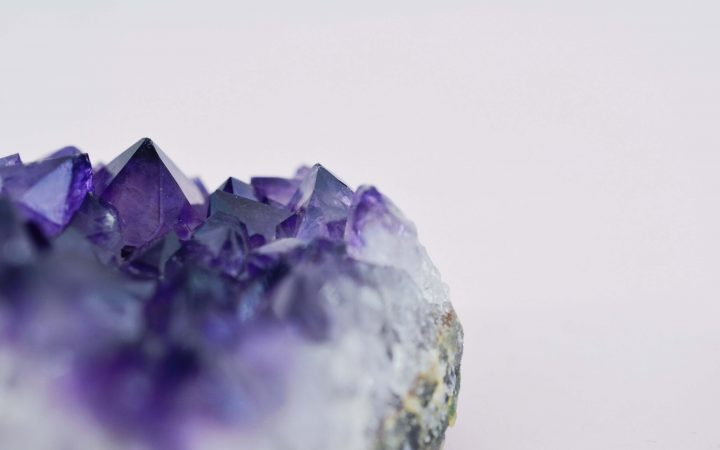 close up image of Amethyst geode