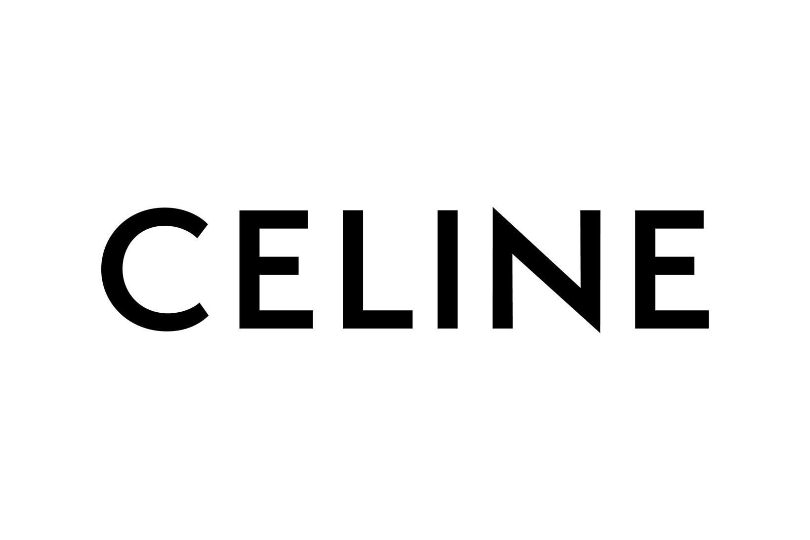 Word Celine in black on a white background