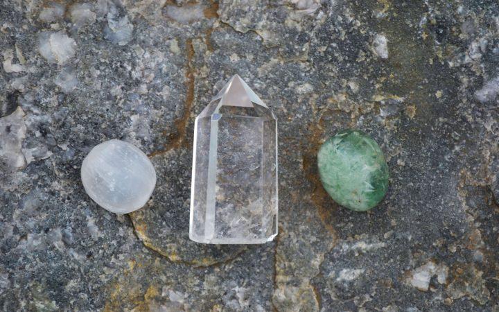 three healing crystals