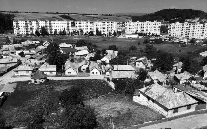 Panoramic view of Fiľakovo's government housing