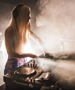 Katie Cooper on the decks