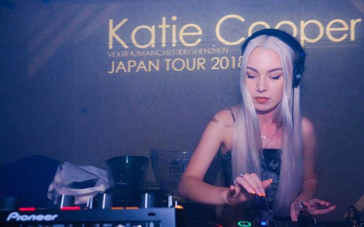 Katie Cooper DJ-ing at outer kochi, Japan