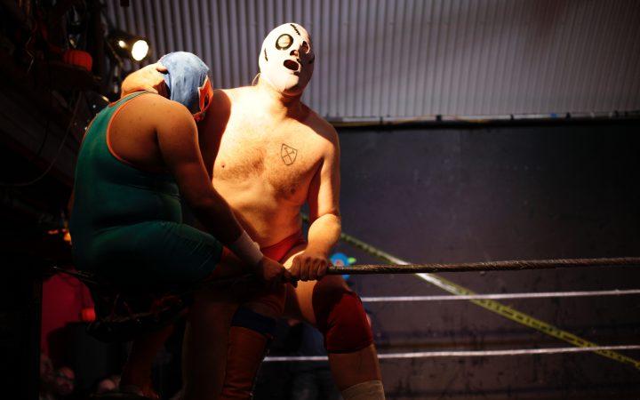 Wrestlers Fugg and Hombre Del Rocka