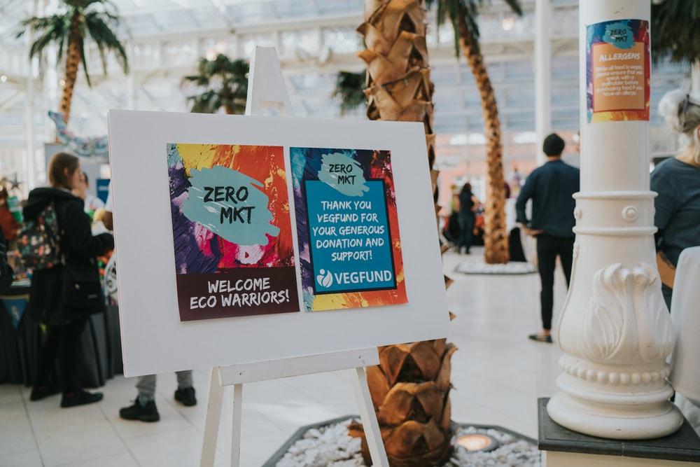 Sign for the Zero Mkt event in September 2018