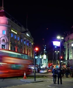 London at night time, Piccadilly Circus