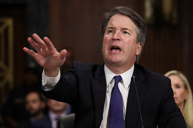 Brett Kavanaugh during his hearing in front of the Senate Judiciary Committee - 2018